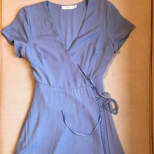 Blue wrap dress - XS